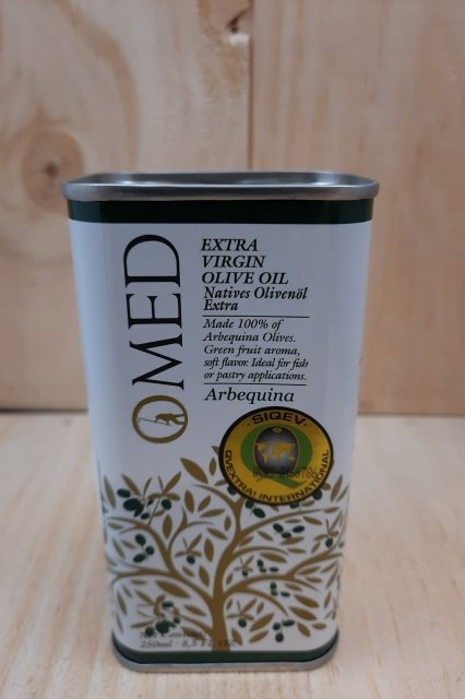 O'Med, Arbequina tin 250ml 138556